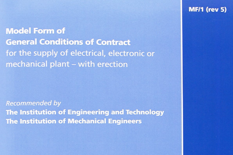 MF1 model form of contract