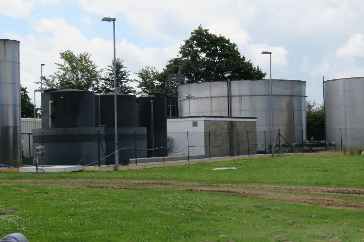 Existing effluent plant